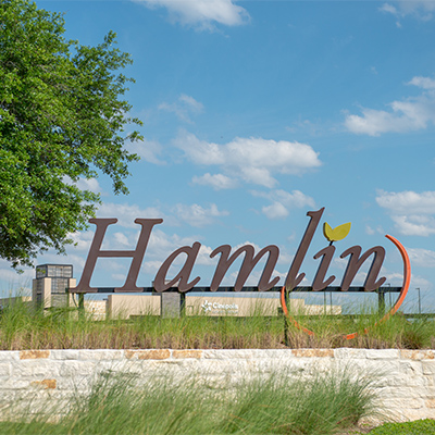 hamlin town center sign
